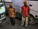 Den před naším odjezdem ze Šrínagaru měli řidiči stávku, ale teď už zase čekají