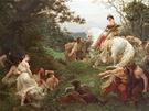 Obraz Františka Ženíška Oldřich a Božena je na výstavě pod alternativním názvem