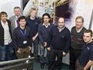 Tým pracující na projektu satelitu Strand-1
