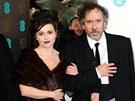 Helena Bonham Carterová a Tim Burton (10. února 2013)