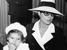 Monack� princezna St�phanie a jej� matka kn�na Grace (11. �ervna 1968)
