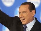 Silvio Berlusconi během volební kampaně, Řím 7. února 2013.