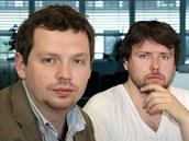 Filmaři Vít Klusák (vlevo) a Filip Remunda