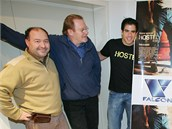 Jan Vlasák (druhý zleva) si zahrál i v americkém hororu Hostel z roku 2006,