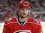 Michal Jordán má za sebou v dresu Caroliny premiéru v NHL.