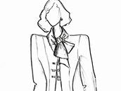 Návrh inauguračních šatů pro Ivanu Zemanovou od Beaty Rajské