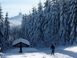 Lysá Hora - lyžař