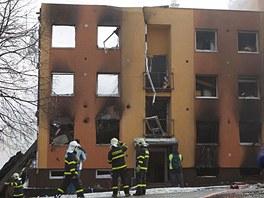Panelák ve Frenštátu pod Radhoštěm, který vybuchl