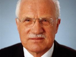 Václav Klaus na prezidentském portrétu