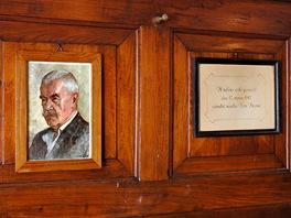 U tohoto stolu, vhospodě na Malé Prašivé, posvačil Petr Bezruč.