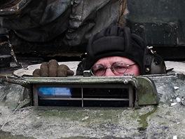Ostr� tankov� st�elby aktivn�ch z�loh u 73. tankov�ho praporu v P��slavic�ch