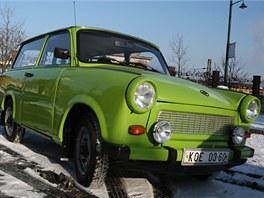 Trabant klub - předání mimořádně zrekonstruovaného trabantu. Je v podstatě