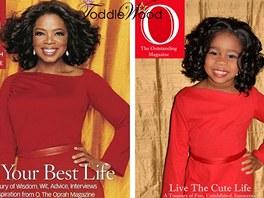 Oprah Winfrey a jej� d�tsk� kopie