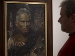 Obraz Maoři je součástí výstavy Zdeňka Buriana v Obecním domě