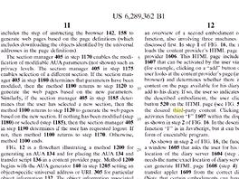 Patent č. 6289362 z 11. září 2001 pojednává mimo jiné o tlačítko, které umožní