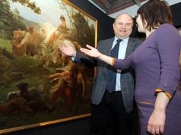 Autoři výstavy Svět chce být klamán Eva Bendová a Vít Vlnas.