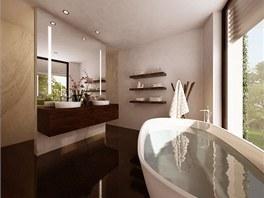 Vizualizace: i koupelny nabídnou výhled do okolí.