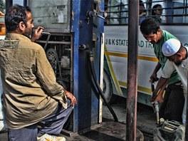 Šrínagarská čerpací stanice na ruční pohon