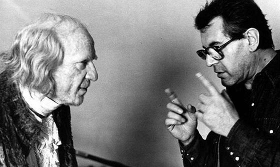 Miloš Forman (vpravo) a herec Murray Abraham při natáčení filmu Amadeus
