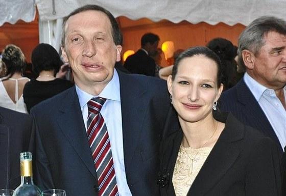 Václav Klaus mladší s manželkou Lucií