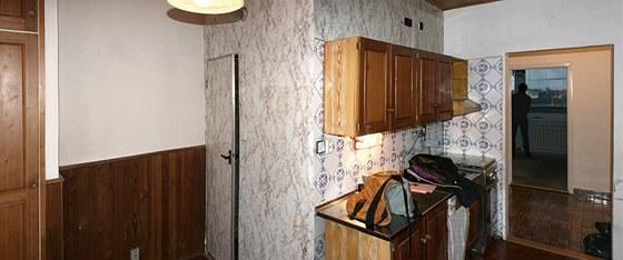Původní podoba bytu, v jakém jej mladí majitelé koupili.
