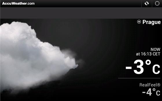 AccuWeather vás bude průběžně informovat o aktuálním počasí, ve verzi pro