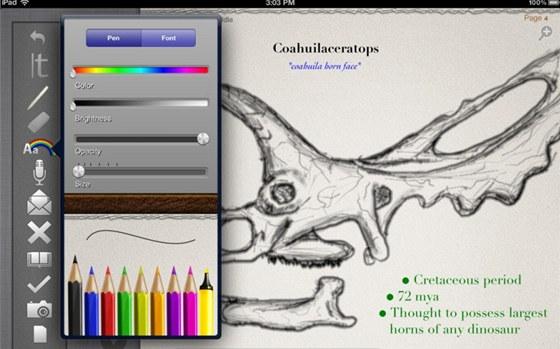Aplikace PaperDesk je ur�ena exklusivn� pro tablety iPad, pro Android je t�eba