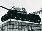 Sovětský tank je nyní v muzeu ve středočeských Lešanech.