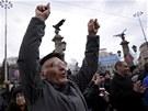 Protesty v Bulharsku proti vysokým cenám elektřiny (17. února 2013)