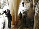 Ledopády patří k nejvyhledávanějším zimním pozoruhodnostem národního parku