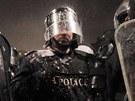 Po��dkov� policie, kter� zasahovala proti demonstrant�m v bulharsk� Sofii (19....