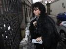 Na Zeman�v ve��rek dorazila i b�val� nejvy��� st�tn� z�stupkyn� Renata Veseck�.