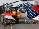 Dopravní nehoda na dálnici D1 u Ivanovic na Hané.