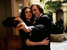 Andie MacDowellová a Gérard Depardieu ve filmu Zelená karta