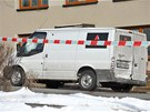 Vůz bezpečnostní agentury převážející peníze, který v Přemyslovicích na...