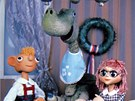 A tady vidíte vždy dobře naloženého brontosaura Přesličku. Byl zcela neškodný