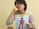 Učitelka Liu zábavnou formou pojmenovává části lidského těla. (25. února 2013)