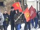 Kromě starších lidí přišlo uctít památku 65. výročí Vítězného února i několik