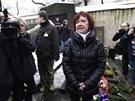 U Gottwaldova hrobu pronesla proslov i poslankyně za KSČM Marta Semelová