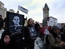 Několik stovek lidí protestovalo proti sílícímu vlivu komunistů v krajích