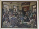 V restauraci U Švagerků dodnes visí obraz s agitujícím Gottwaldem.