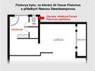 Půdorys bytu, ve kterém žil Oscar Pistorius s přítelkyní Reevou Steenkampovou