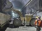 Pohled do tunelů projektu East Access pod stanicí Grand Central.