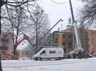 Demolice domu ve Frenštátě začala