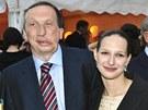 V�clav Klaus mlad�� s man�elkou Luci�