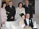 V�clav Klaus mlad�� si vzal Lucii H�eba�kovou (23. �nora 2013).