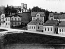 Historický pohled na Střelnici z Pivovarské ulice.