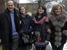 Velký favorit voleb, Pier Luigi Bersani, vůdce levicové opozice, šel volit