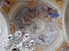 Kupole kostela sv. Jiří a sv. Martina v Martínkovicích, jak ji vyzdobil F. A.