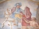 Fresky F. A. Schefflera z roku 1748 zdobí kostel sv. Jiří a sv. Martina v